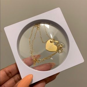 Gold 'Angel' Heart Necklace